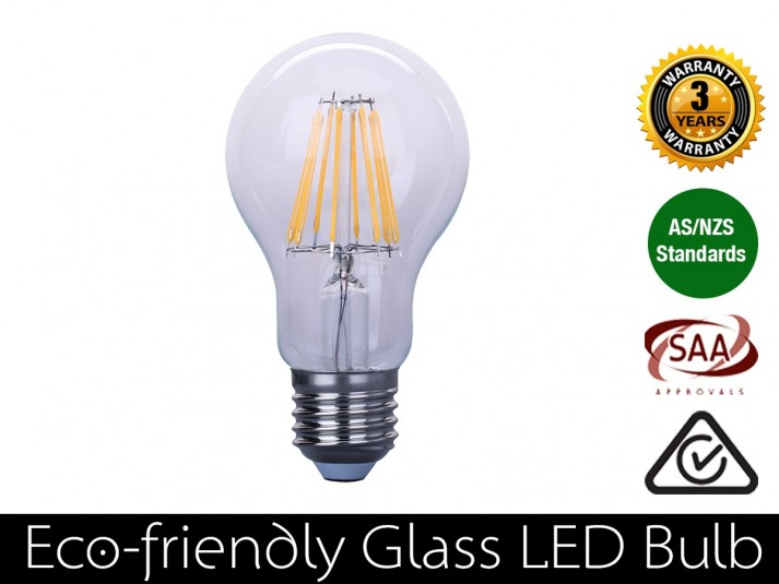 8W LED Filament Bulb E27 Warm White 800LM