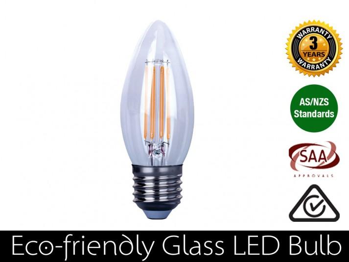 4W LED Filament candle E27 Warm White 400LM