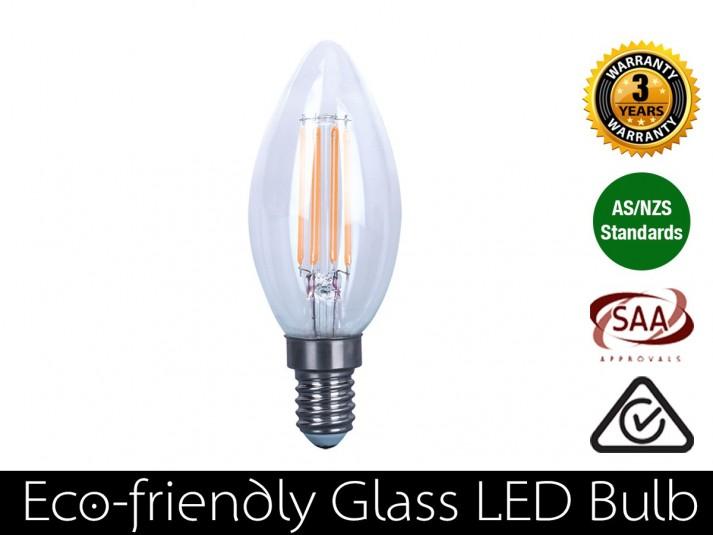 4W LED Filament candle E14 Warm White 400LM