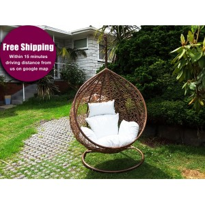 Hanging Egg Chair with Base & Cushion (Large)
