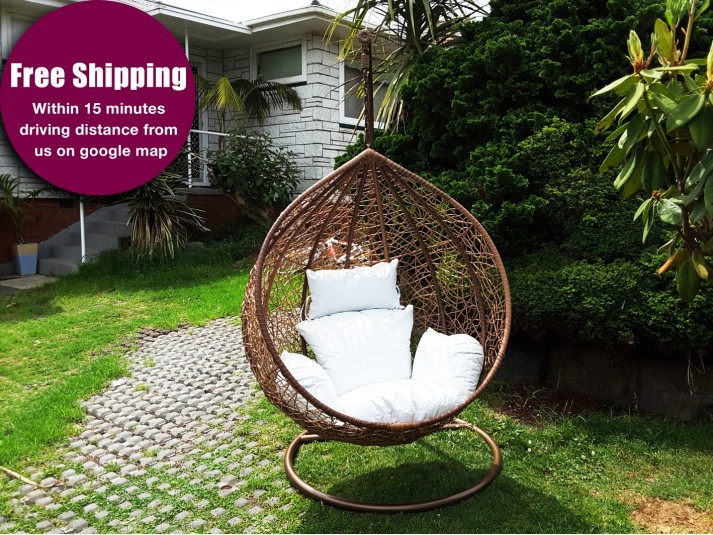 Hanging Egg Chair with Base & Cushion