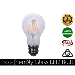 4W Eco-friendly LED Glass Bulb E27 Warm White 400LM (3 Year Warranty)