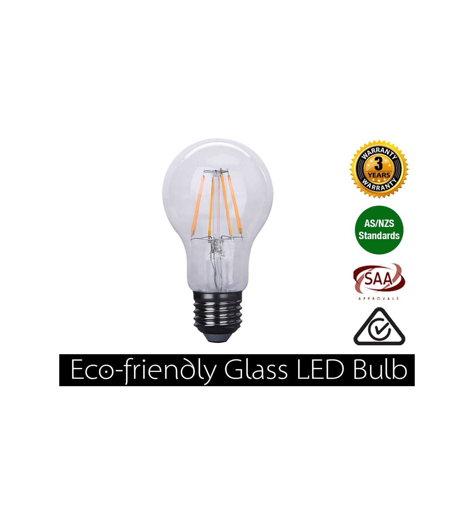 4W LED Filament Bulb E27 Warm White 400LM