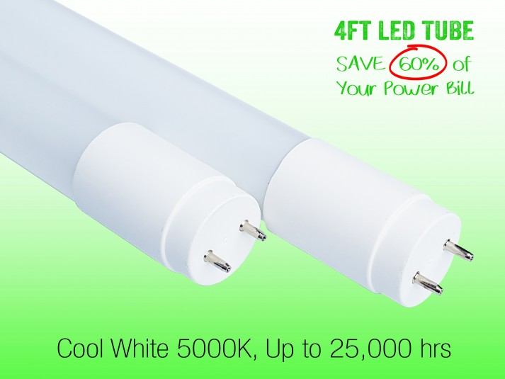 1.2M T8 LED TUBE LIGHTS 18W 5000K 2 YEAR WARRANTY GLASS